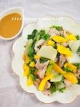豚肉と彩り野菜のスチームサラダ にんにくごまポンソース