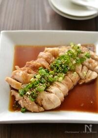 『中華風レンジ蒸し鶏』