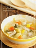 簡単塩豚とコロコロ野菜のスープ