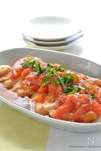 汁だくトマトみそ鶏