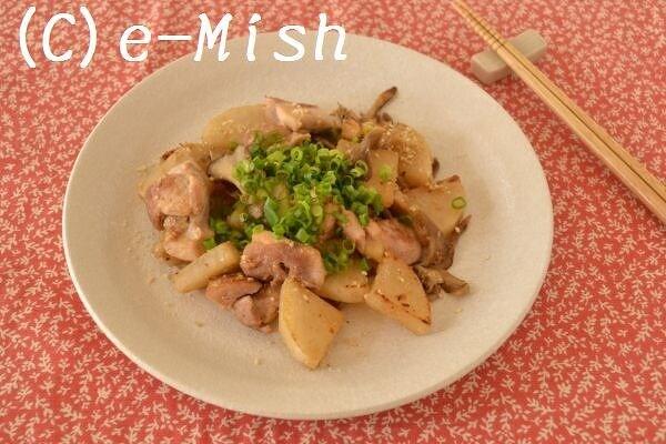 鶏もも肉と大根のごま味噌炒め