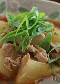 『寒い日に!圧力鍋で作る大根の豚キムチ煮込み』