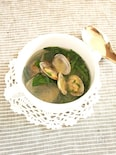 あさりと春菊のエスニックスープ