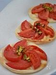 塩トマトの簡単ドルチェピザ