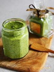 水菜とバジルの胡桃ジェノベーゼ