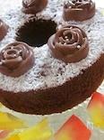 薔薇のチョコレートシフォンケーキ