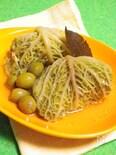 ◆ロールキャベツのオリーブ煮◆ サボイ(縮緬)キャベツ
