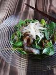 真鯛のカルパッチョサラダ 生姜の胡麻醤油だれで