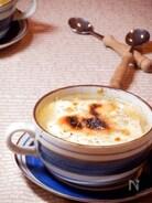 チーズがとろ〜り 長ねぎとベーコンときのこのスープ