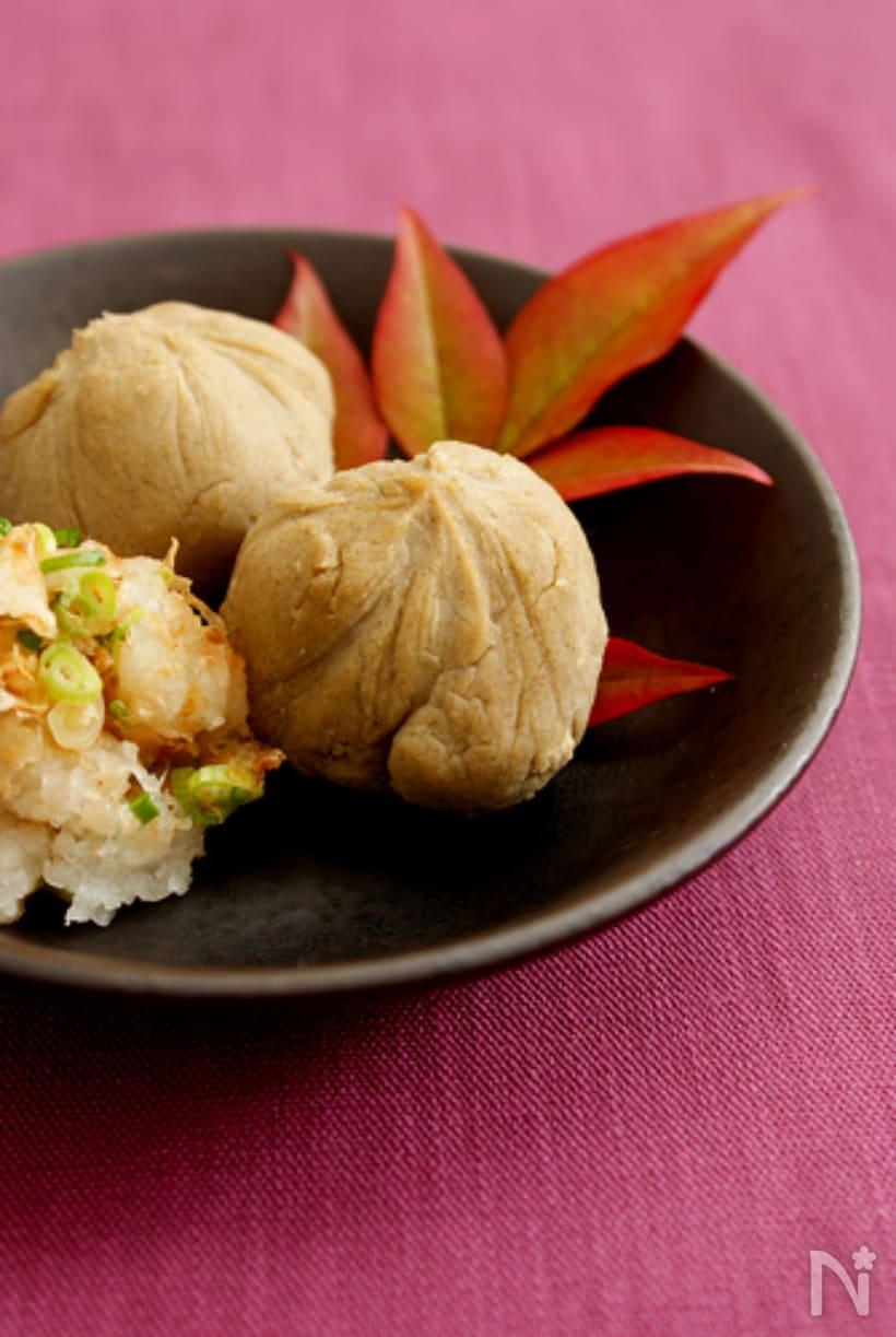3. 豆腐の蕎麦がき