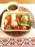 レンジで♪蒸し野菜とバーニャカウダソース