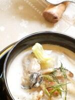牡蠣と蕪のチャウダー 酒粕風味