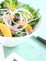 プチヴェールのサラダオレンジヴィネグレットソース