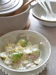 芽キャベツのファルファッレ ゴルゴンゾーラソース