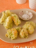 海老と長芋の青のり揚げ