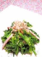 菜の花の和サラダ