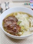 紀文 肉ワンタンを使って簡単ワンタン麺