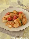 鶏肉とかぼちゃのピーナッツバター炒め