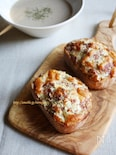 キャベコンビーフのチーズトースト