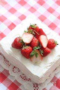 天板ひとつで簡単いちごのショートケーキ