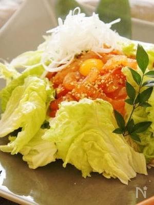 鯛サラダ素麺韓国風