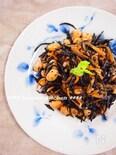 【常備菜】ひじきと大豆のガーリック醤油炒め