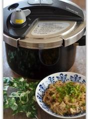 圧力鍋で炊くきのこの炊き込みご飯
