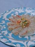 真鯛のカルパッチョ 昆布とナンプラー風味