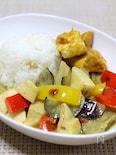 大人の野菜とチキンのグリーンカレー
