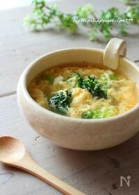 『5分でかんたん、ブロッコリーと卵のスープ』