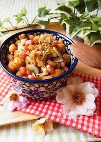『ひよこ豆とカリカリベーコンのスパイシーオレガノ風味』