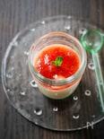 豆腐deムース*苺ソース添え。