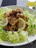 黒胡椒香る鶏の唐揚げ生搾りレモンソース