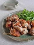 ミニトマトのシンプル豚巻きソテー
