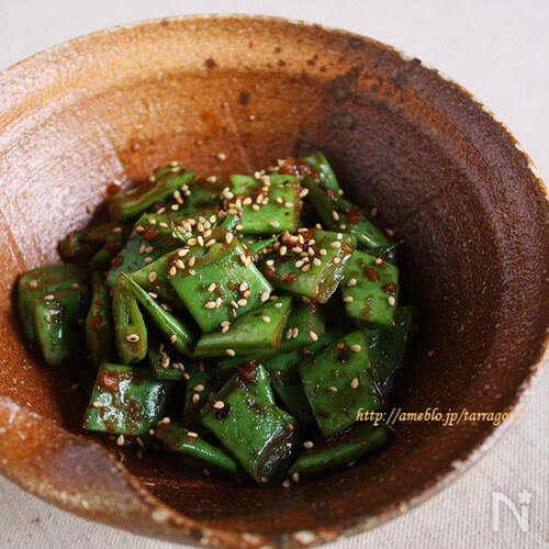 モロッコインゲンのしゃきしゃき生姜焼き