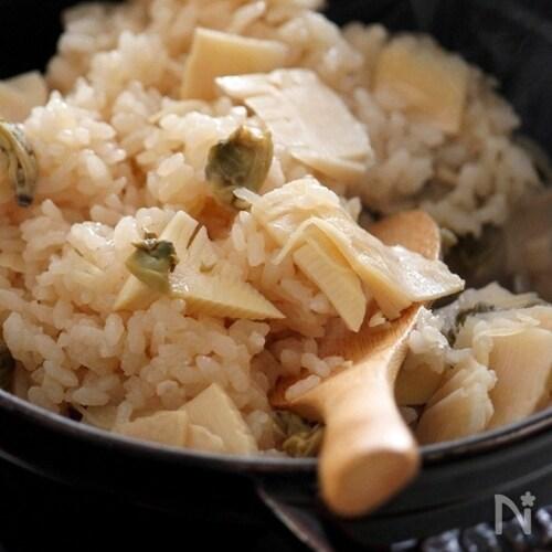 筍とあさりの炊き込みご飯。