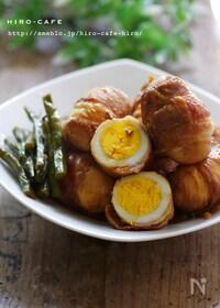 『丸ごと卵の簡単豚バラ巻き☆』
