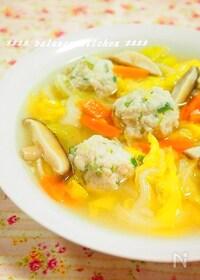 『新食感!ふわとろオクラ鶏団子の野菜たっぷりスープ』