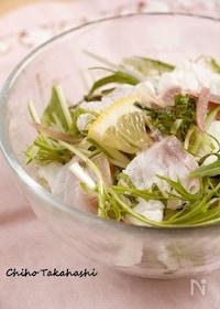 『白身魚の冷しゃぶ香りサラダ』