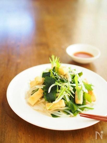 油揚げと野菜のシャキシャキサラダ