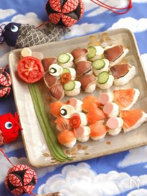 *こどもの日のこいのぼり寿司*