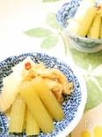 蕗と筍と油揚げの煮物