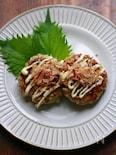 豚ひき肉のキャベツバーグ(お好み焼き風)
