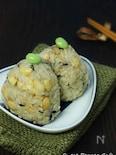 ひじきと大豆の炊きこみご飯。