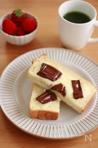 チョコとマスカルポーネのトースト