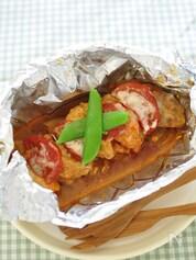 味噌漬け鶏と野菜のホイル焼き