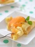 焼きグレープフルーツのせカスタードクレープ