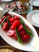 トマトとオクラのお浸し