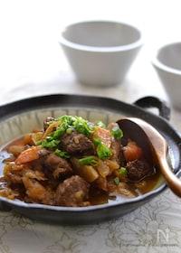 『牛すね肉と根菜の黒酢煮(圧力鍋)』