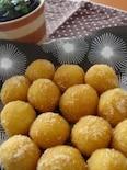 残りご飯でスイーツ☆さつま芋のきな粉団子
